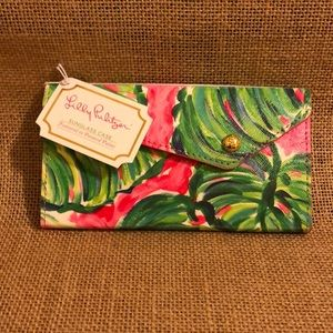 NWT Lilly Pulitzer Sunglass Case -Painted Palms